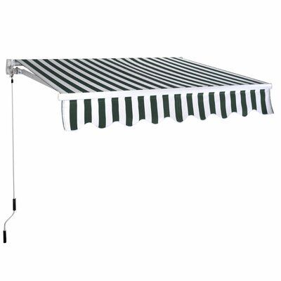Costway Manual Sun Shade 10 Ft W 8 Ft D Retractable Patio Window Door Awning Polycarbonate Roof Panels Retractable Awning Covered Pergola