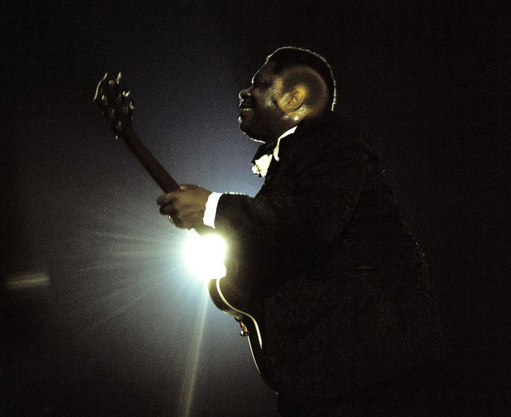 B.B. King performs at the Newport Jazz Festival at Yankee Stadium in 1972