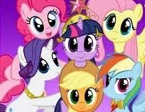 My Little Pony Ponyville round puzzle- Juegos para chicas