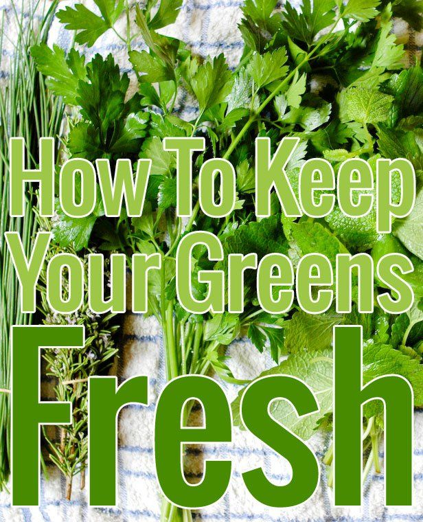 How to keep your greens fresh?