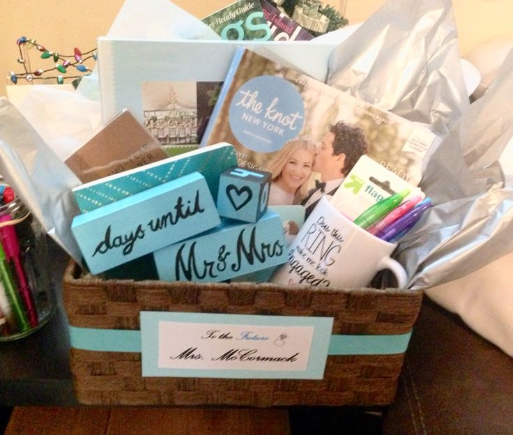 Engagement Basket I put together for Cathryn! Get excited bride to be!!! Xoxo