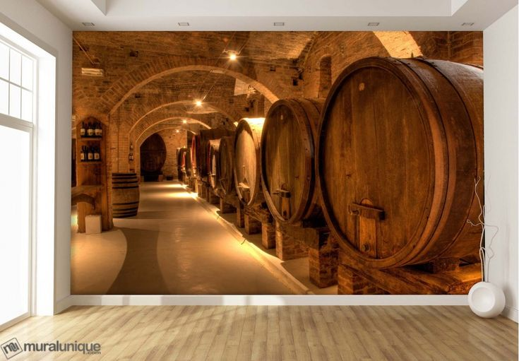 Wine Cellar in Tuscany | Buy Prepasted Wallpaper Murals Online - Muralunique.com