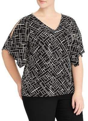 632563870bfe14 Lauren Ralph Lauren Plus Handkerchief Sleeve Jersey Cold Shoulder Top.   plussize  womenstops  ad