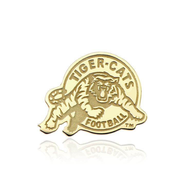 10kt yellow gold Hamilton Tiger-Cats pin.