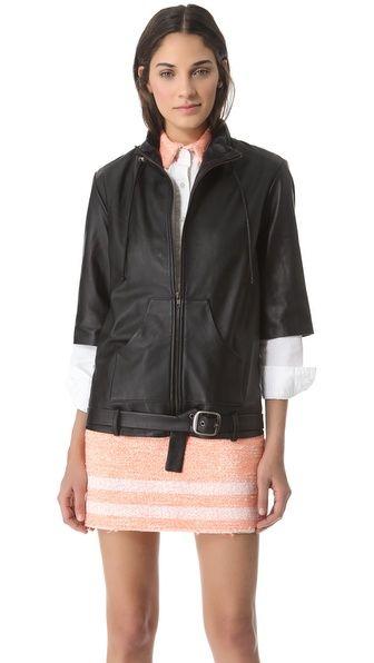 Jonathan Simkhai Leather Baja Jacket --   the whole look.