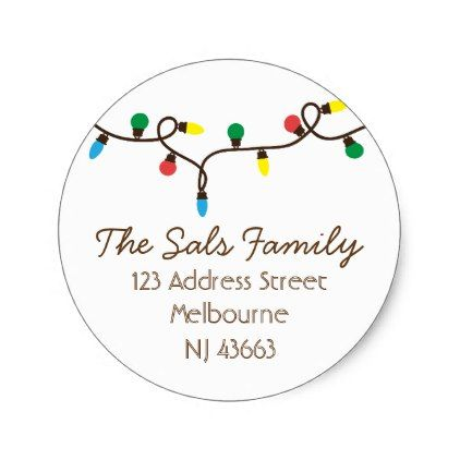 Christmas Address Labels Stickers - christmas craft supplies cyo merry xmas santa claus family holidays