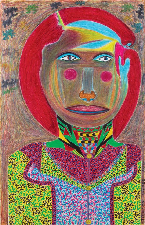 Out soon, our next issue includes the powerful portraits of Johnson Weree, self-taught artist from Liberia. Subscribe online at: http://rawvision.com/webshop/subscriptions