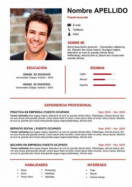 50 Plantillas De Curriculum Vitae En Word Para Descargar Gratis Vocabulary Exercises Curriculum Vitae Inspirational Cards