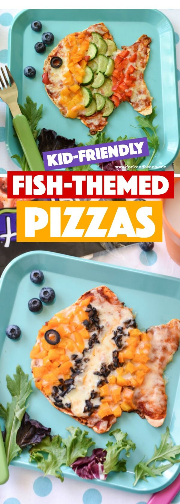 Switch up dinner and make these easy yet super fun Veggie Fish Pizzas for your kids tonight!