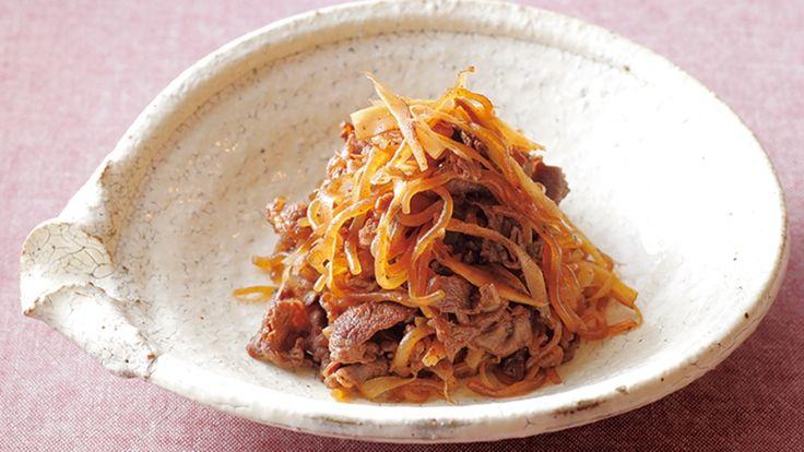 糸こんにゃくと牛肉の煮物レシピ 講師は中東 久人さん|使える料理レシピ集 みんなのきょうの料理 NHKエデュケーショナル