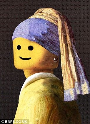 Just had to pin this for my LEGO loving son! You could have a lot of fun with LEGO heads and other portraits....