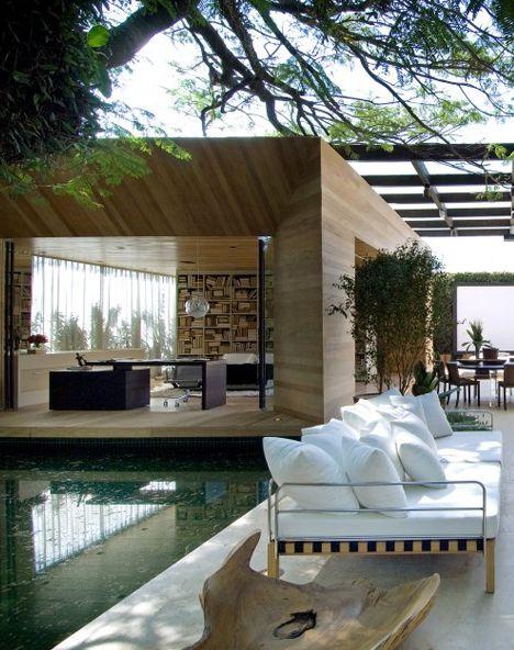 relaxing outdoor environment
