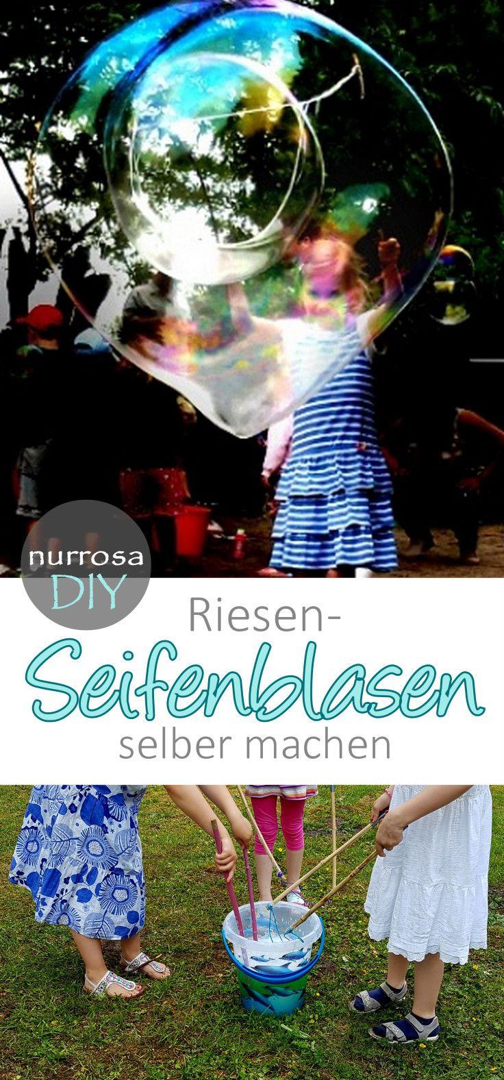 Große Seifenblasen / Riesenseifenblasen selber machen #Anweisung #Rezept #DIY # …   – Mein Familienblog nurrosa.com