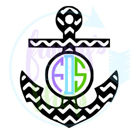 Monogram Chevron Anchor Decal for Laptop, Car, Cups or Anything You Want To Add Some Nautical Flair To by FrannysDecalShop on Etsy https://www.etsy.com/listing/541630439/monogram-chevron-anchor-decal-for-laptop