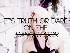 Shakira - Dare (La La La) #Shakira #truthordare #gif #blonde  'It's truth or dare on the dancefloo!'