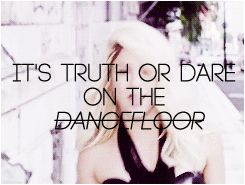 Shakira - Dare (La La La) #Shakira #truthordare #gif #blonde  'It's truth or dare on the dancefloo!'