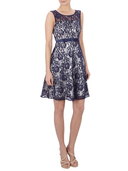 FEVER LONDON Kleid aus Spitze in Dunkelblau | FASHION ID Online Shop