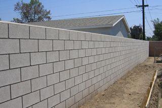 no cap concrete block wall