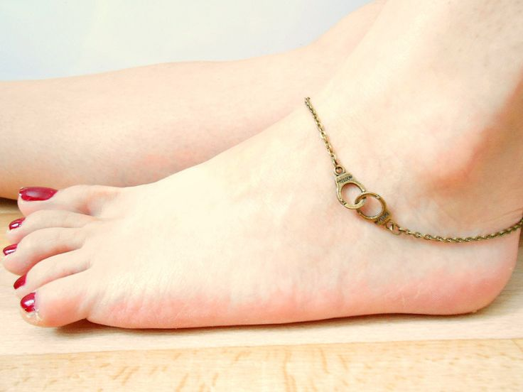 Bronze Handcuff Anklet - Freedom Anklet - Handcuff Jewelry - Anklets For Women - Partners In Crime by SkadiJewelry on Etsy