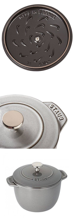 Staub Cast Iron Petite French Oven (1.5-qt, Graphite Grey)
