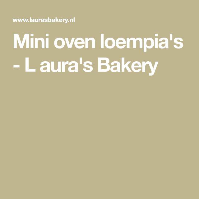 Mini oven loempia's - L aura's Bakery