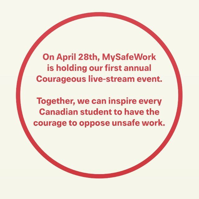 I'll be joining the change makers tomorrow for #Courageous It will be available to watch anytime at http://www.youtube.com/MySafeWork starting at 10:00am EST. @mysafework @bryanbaeumler #dayofmourning #opposeunsafework #iamcourageous #iamcourageous2017 @bryan_baeumler