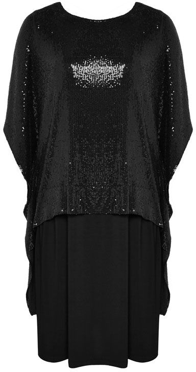 NONI + Sequin Batwing Glam Dress $329.95 AUD  1 piece batwing sequin overlay dress with jersey skirt, high low sequin detail at back 88cm, full length from centre back to hem 106cm 95% Viscose 5% Elastane, Rest Of Garment 92% Polyester 8% Elastane Do Not Dry Clean  Item Code: 047087