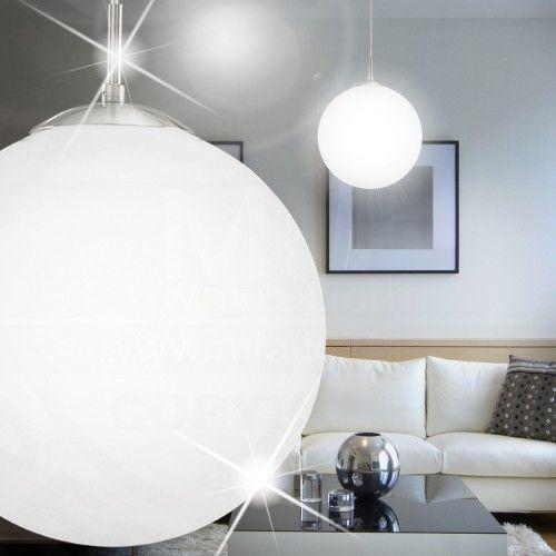 Image result for lampe rund pendel frostet tak spisebord