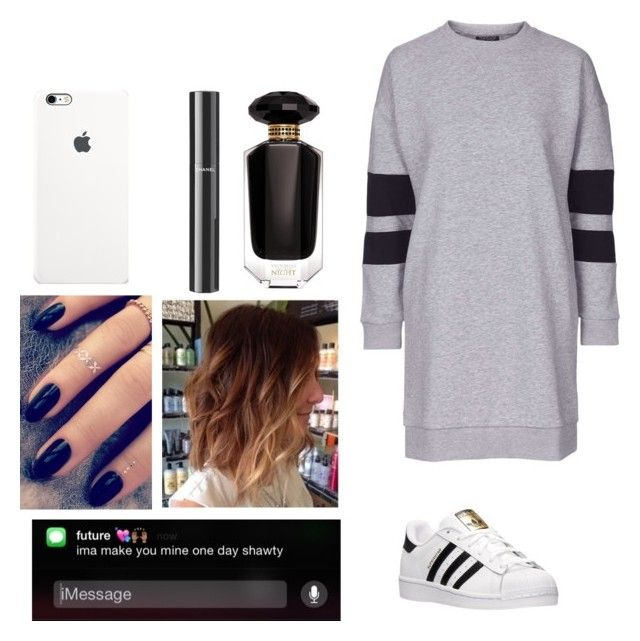 """♔♚Pain♚♔"" by moniqueforeverz ❤ liked on Polyvore featuring adidas, Topshop, Lottie, Victoria's Secret, Chanel, women's clothing, women, female, woman and misses"