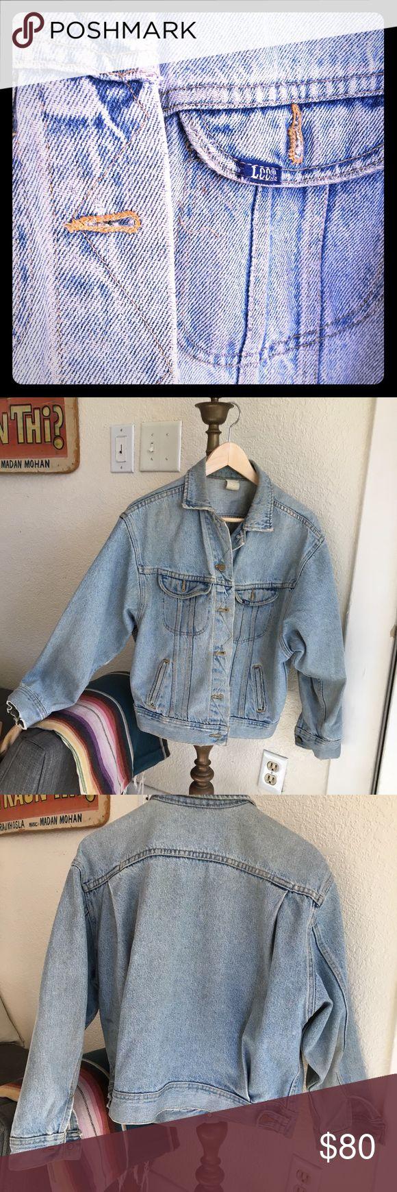 Vintage 1980's Lee Denim Jacket Classic acid wash denim jacket featuring 80's style dolman sleeves. Lee Jackets & Coats Jean Jackets
