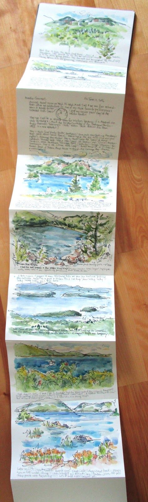 It was still high tourist season on Mount Desert Island but a friend & I drove over anyway.   We found a few quiet places for sketch...