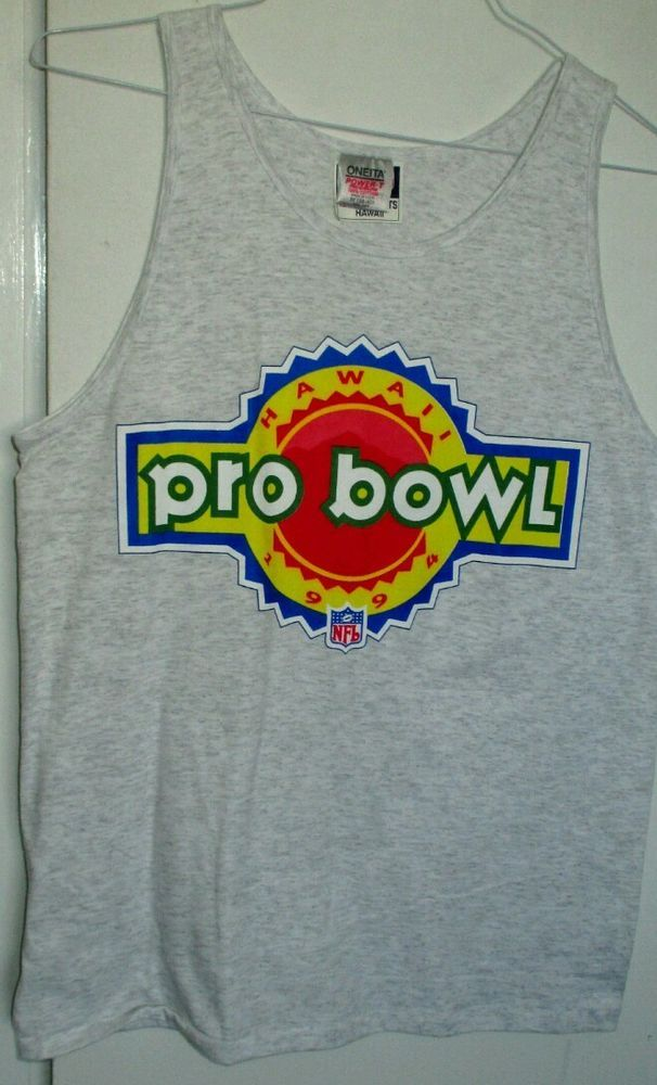 1994 #NFL PRO BOWL #HAWAII #muscle t-shirt #Football Adult gray Mens M 38-40 NM