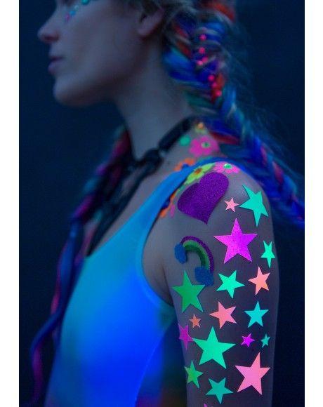Sasswear Daisy Blacklight Body Stickers | Dolls Kill
