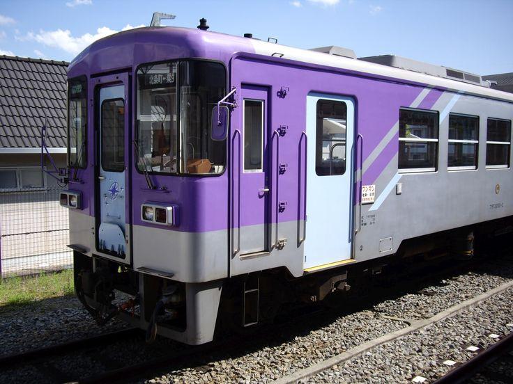 Hojo Railway FuRaWa-2000-2 train in Hojo-machi station.