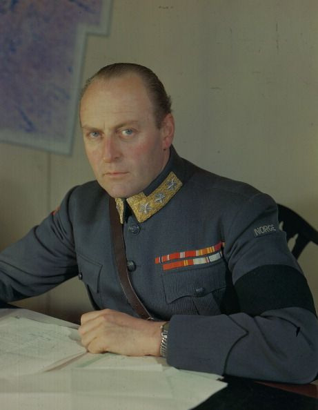 1945 Crown Prince Olaf as Chief of the Norwegian Army later King Olaf V of Norway during World War Two May 1945