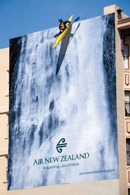 Air New Zealand outdoor ad