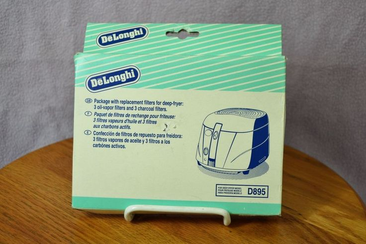 Delonghi Box of 3 Replacement Charcoal & Oil-vapor Filters for D895 Deep-Fryer #DeLonghi
