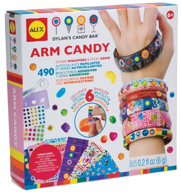 Dylan's Candy Bar Arm Candy Decorate 6 Bangles Stickers & Gems Alex Toys 125D #AlexToys