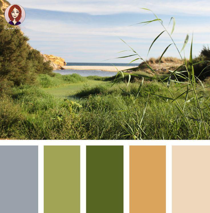 Raumgestaltung Farbe Beige Anthrazit Braun Raumgestaltung: Harmonisches Grün Kombiniert Mit Sanftem Blau-Grau Und