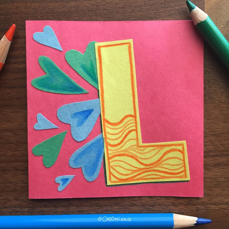 Letter L!. This is part of a paper art type I'm making for 36 days of type and also part of my 100 days project about paper art! :)