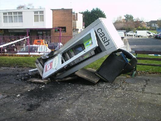 9) Belmont, Durham City, England (attempted raid on a cash machine)