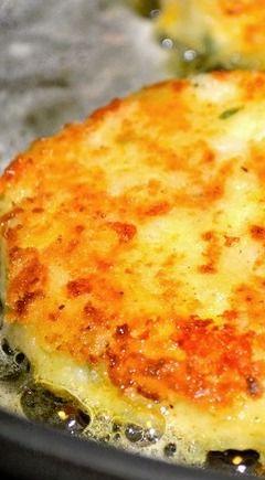 Tater Cakes ~ Cheesy Leftover Mashed Potato Pancakes