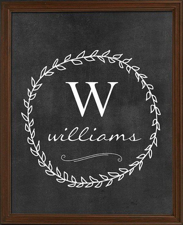 A chalkboard monogram is both elegant and timeless. Display this at your wedding reception and then keep it for years to come as a memory of your wedding day. @myweddingdotcom