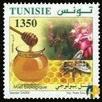 Sello de Túnez de miel ecológica