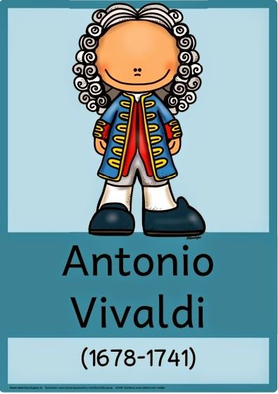 Musik in der Grundschule: Komponistenplakat Antonio Vivaldi