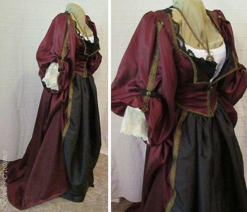 Elizabeth's Plum Pirate Gown Costume