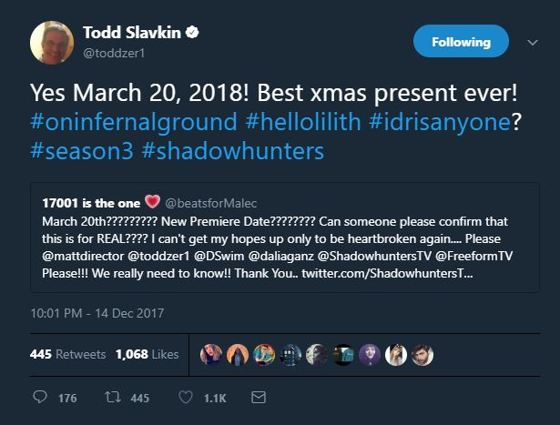 Shadowhunters - Season 3 - Promo, First Look Photos, Casting News, Poster & New Premiere Date