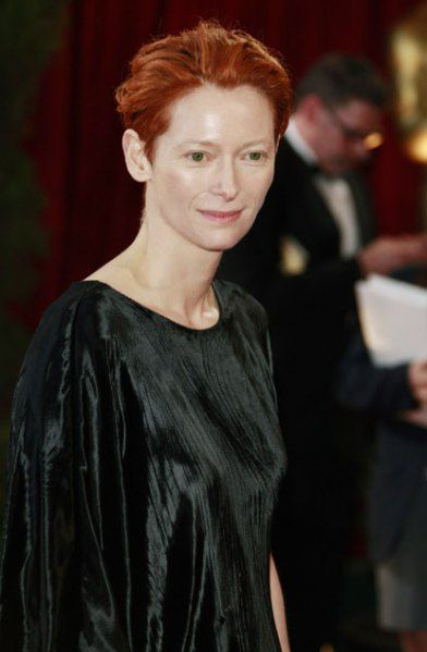 WORST: Tilda Swinton's orange-red hair completely washed her out.