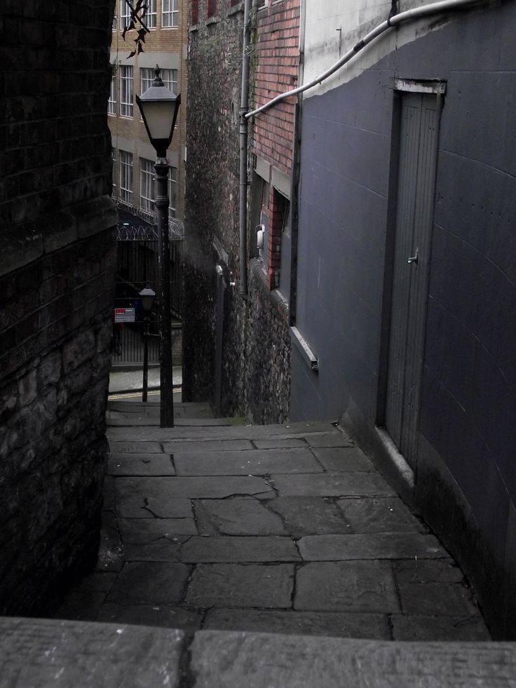 """Zed Alley in Bristol, UK - Bristol has several """"steppered"""" alleys like this, the most notable being Christmas Steps."""