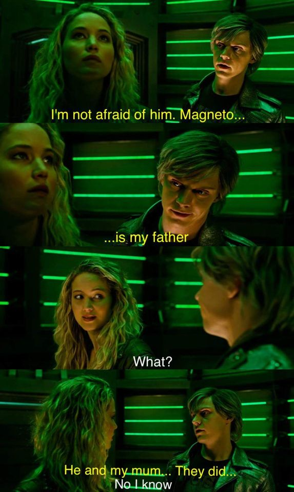   Evan Peters as Quicksilver and Jennifer Lawrence as Mystique - X-men : Apocalypse  